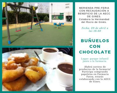 Buñuelos con chocolate en Ginés